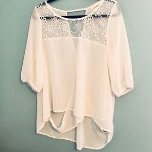 Altar'd State Sheer blouse. Size XL